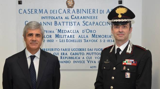 prefetto Alfonso Terribile e Tenente Colonnello Pierantonio Breda