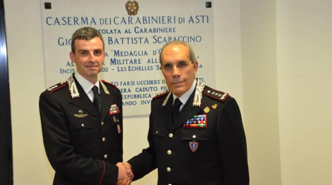 generale maruccia in visita al comando cc asti