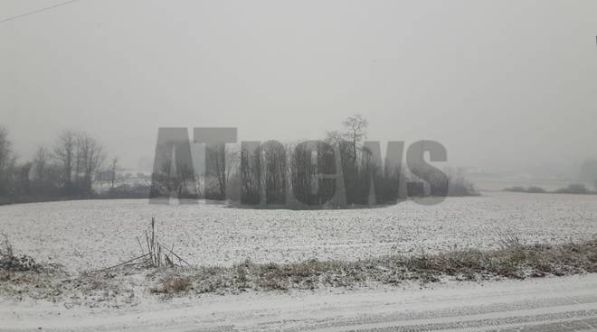 Nevicata sull'astigiano 23 gennaio 2019