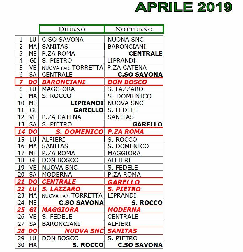 Calendario Farmacie Di Turno.Asti Le Farmacie Di Turno Nel Mese Di Aprile 2019 Atnews It