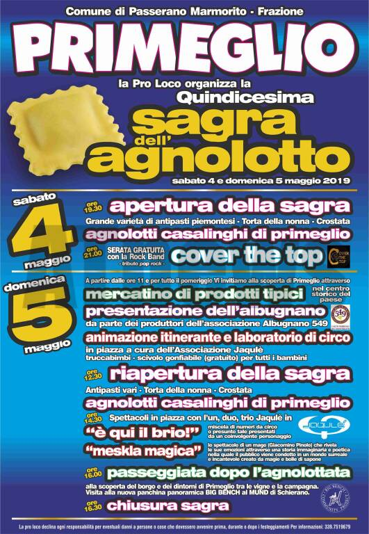 QUINDICESIMA SAGRA DELL\'AGNOLOTTO
