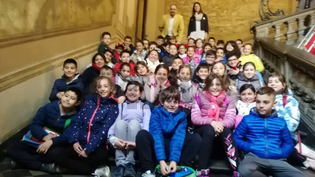 Classi 4a e4b in visita al comune