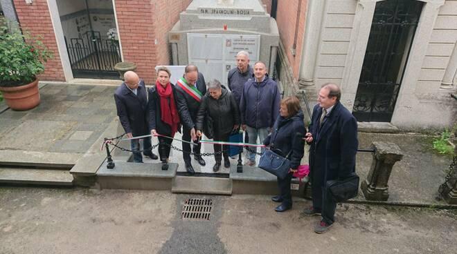 Celebrazione materno Giribaldi cimitero Asti
