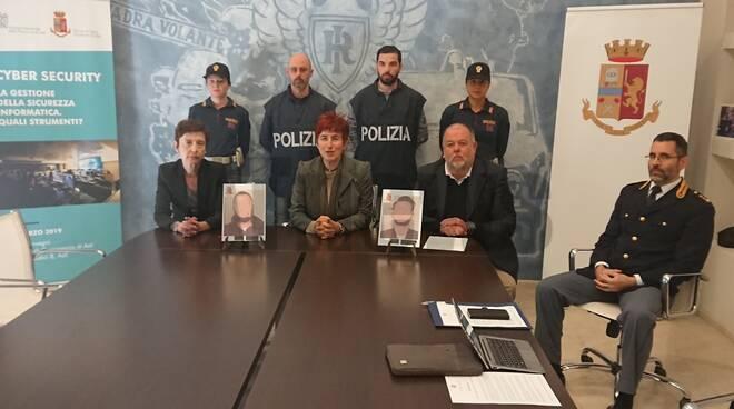 conferenza questura arresto rapinatori banca alba