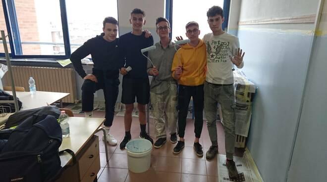 Lavori degli studenti all'Artom di Asti