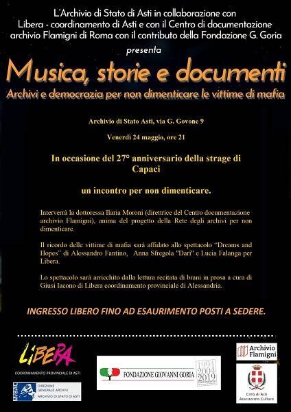 locandina musica storie documenti