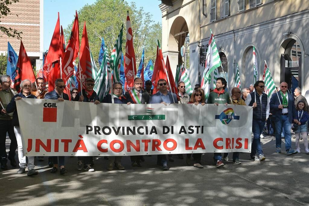 Manifestazione Primo Maggio 2019 ad Asti
