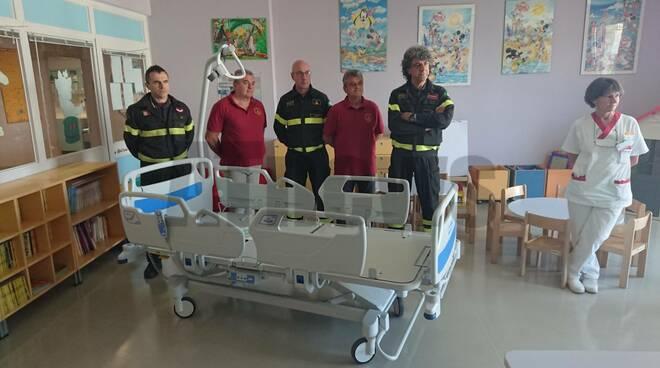 Donazione vigili fuoco pediatra asti