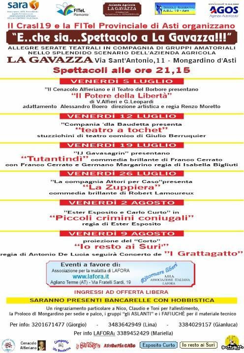 E..che sia ...Spettacolo a La Gavazza!!!