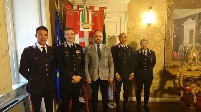 Presentazione drappello Carabinieri palio 2019