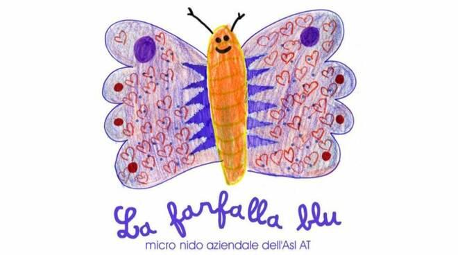 micronido farfalla blu