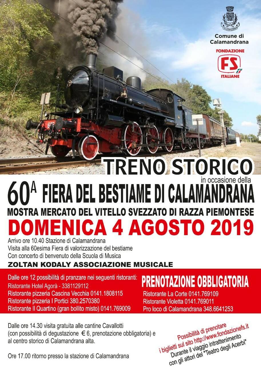 treno storico calamandrana locandina