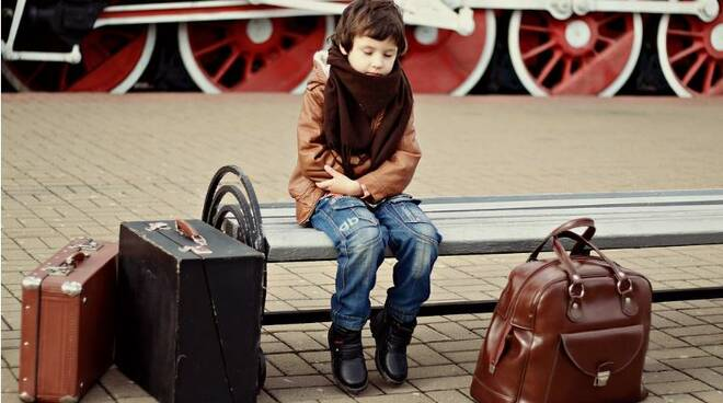 viaggio in treno con bambino