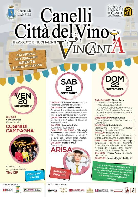 """Canelli Città del Vino VinCanta"""