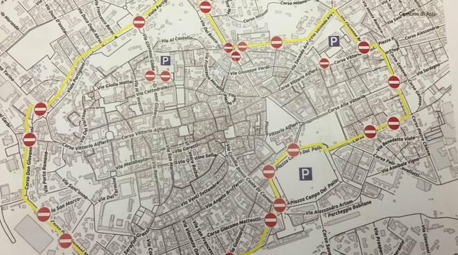 mappa chiusura centro asti domenica 22 settembre