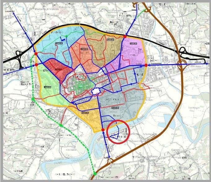 mappa piano del traffico