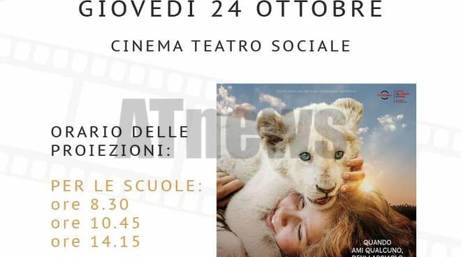 Ricominciano le proiezioni di film per la città e per le scuole al teatro Sociale di Nizza