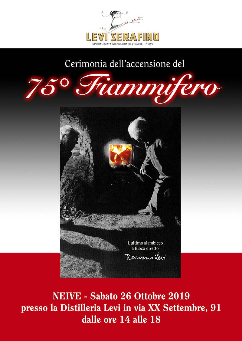 cerimonia per l'accensione del  75° FIAMMIFERO