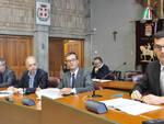 Il presidente Lanfranco, il consigliere Giroldo, il funzionario Maldonese e il dirigente Imparato.
