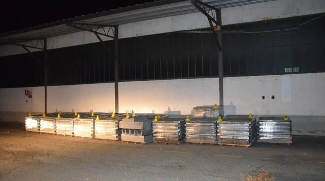 materiale edile sequestrato polizia