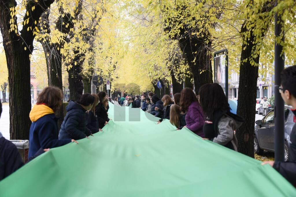 """Evento GREEN di  nome  \""""ONDA VERDE\"""" - Studenti della Scuola Media C.A. Dalla Chiesa manifestano per l\'Ambiente"""