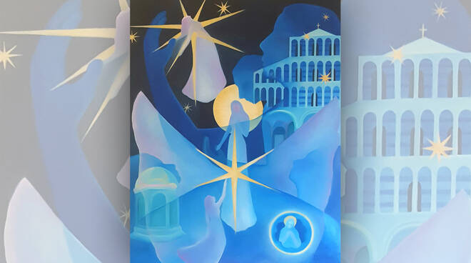 Con la luce nel cuore, opera degli artisti astigiani Delta N.A.