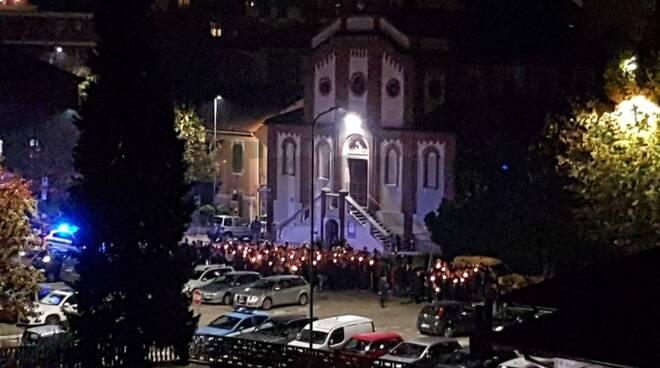 Fiaccolata anniverario 25 anni alluvione Asti