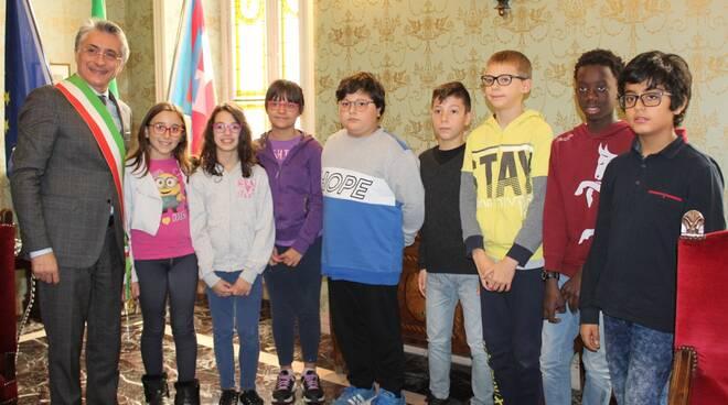 """Gli alunni della scuola """"Coppino"""" in visita al Palazzo comunale"""