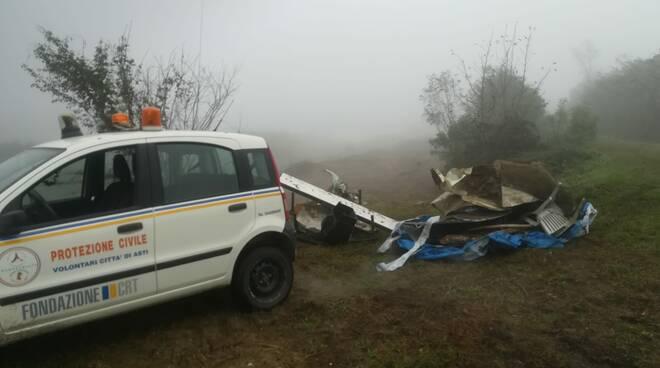 Intervento protezione civile asti riva destra Tanaro