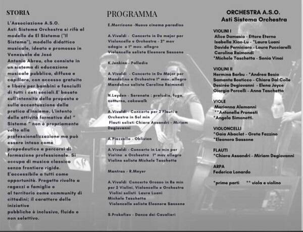 programma concerto ASO