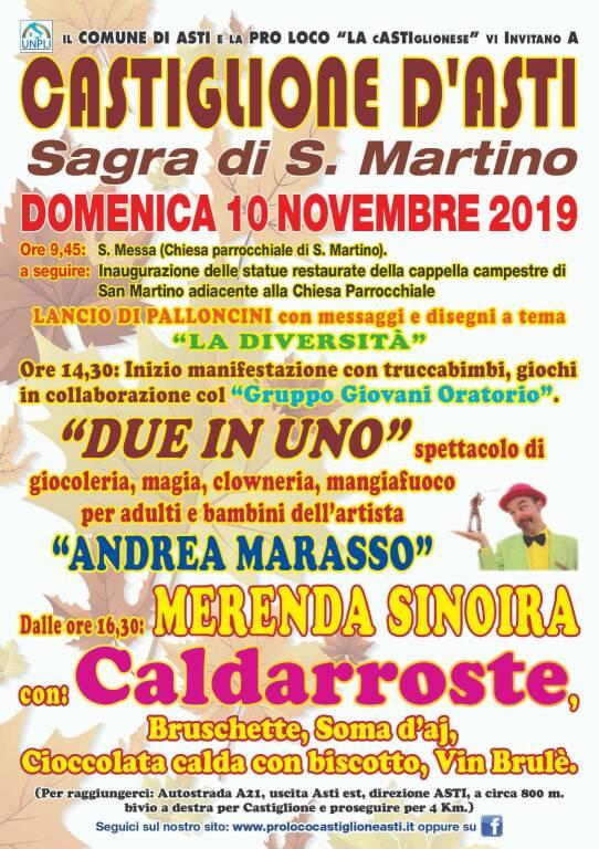 sagra san Martino castiglione d'asti 2019