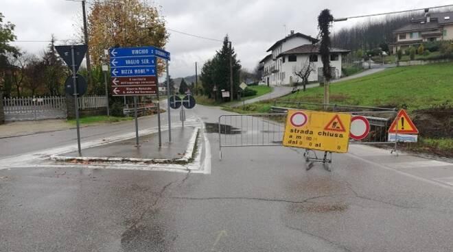 strada chiusa mombercelli