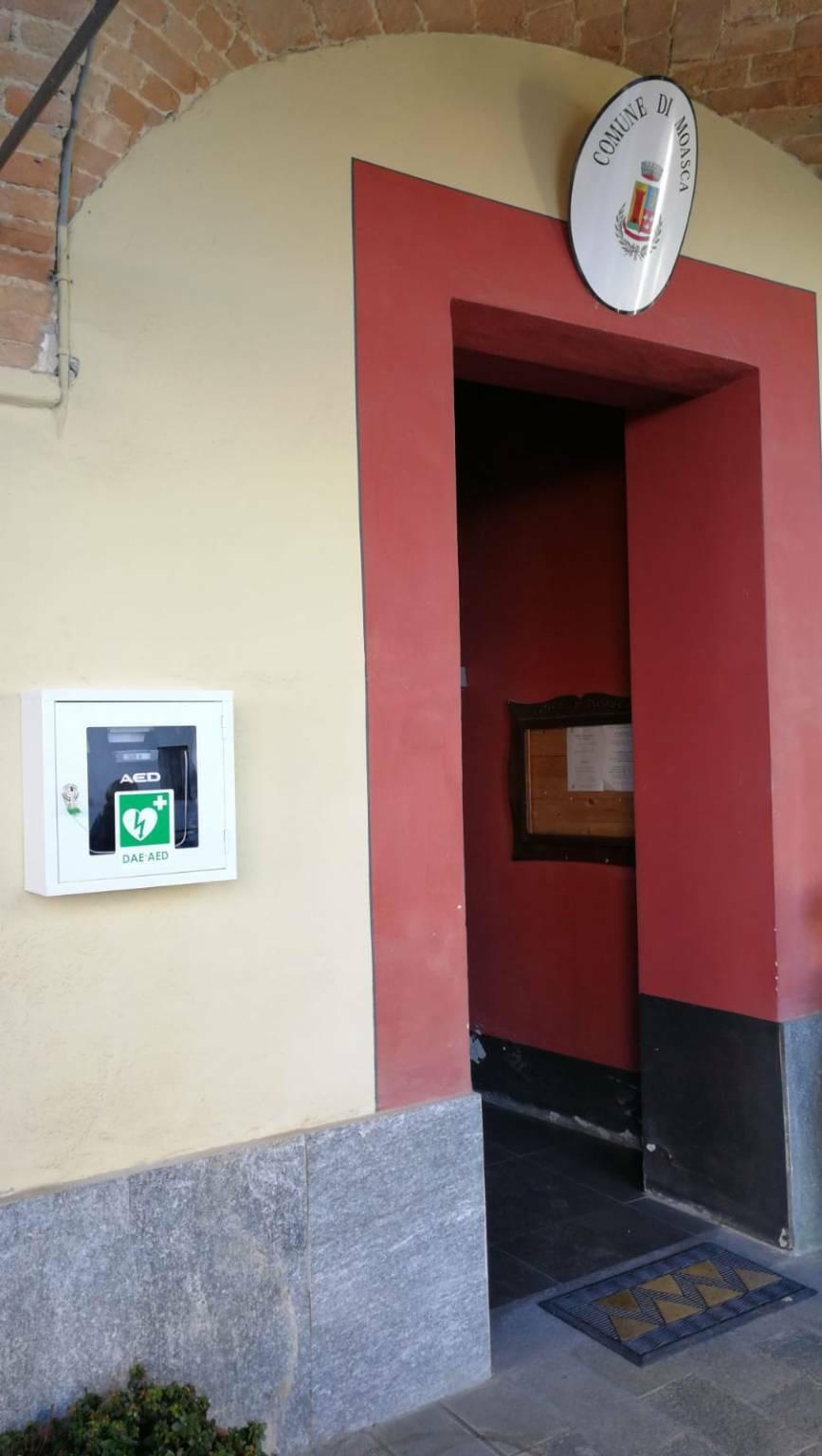 Defibrillatore Moasca inaugurazione