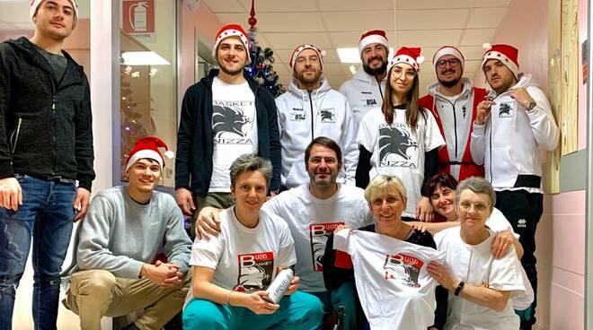 Donazione sangue e auguri ospedale di Alessandria del Basket Nizza