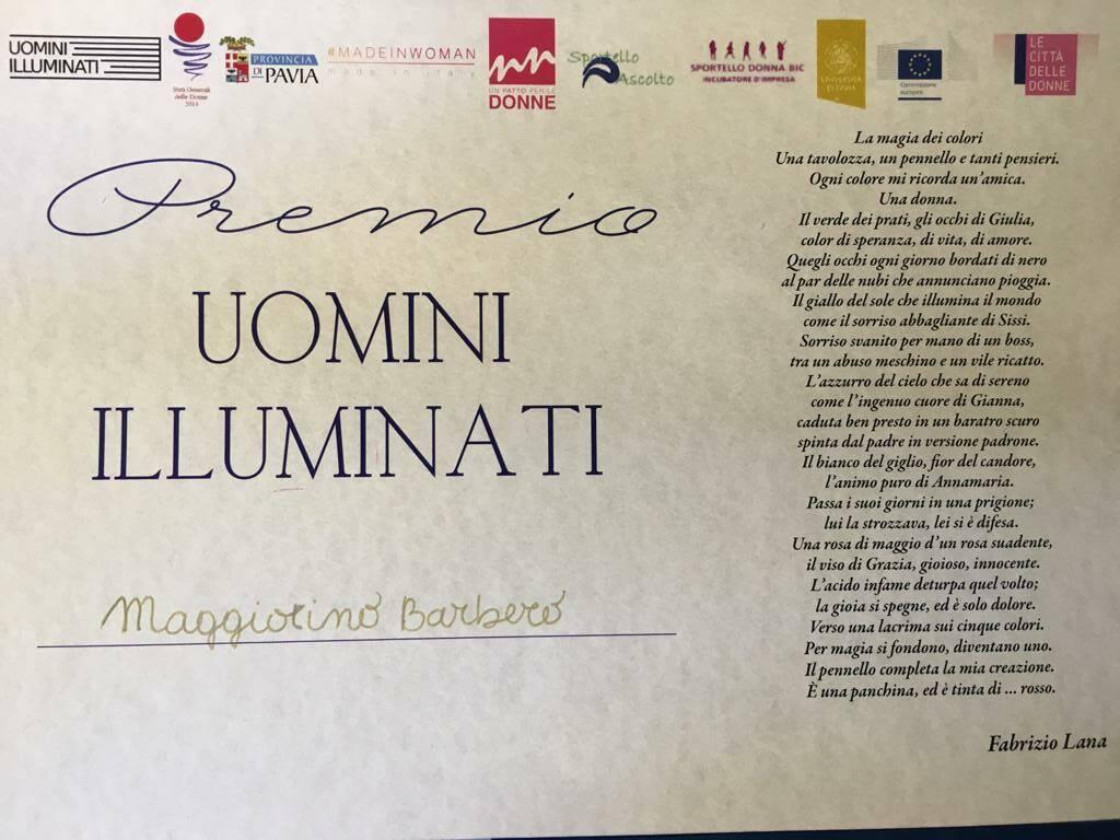 Il Premio Uomini Illuminati al Dott. Maggiorino Barbero di Asti