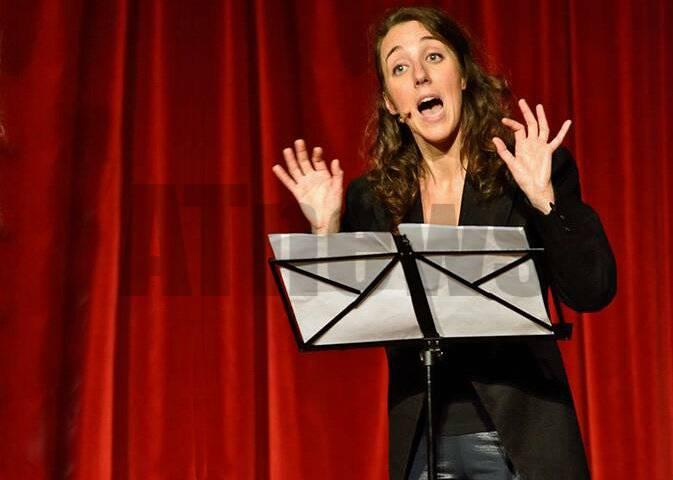 Federica Sassaroli a Montiglio Monferrato con il suo spettacolo \