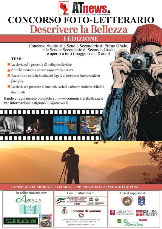 locandina concorso fotoletterario descrivere la bellezza