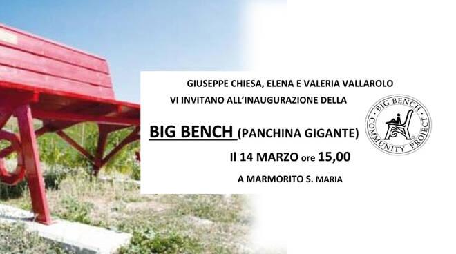 Panchina gigante a marmorito s. maria