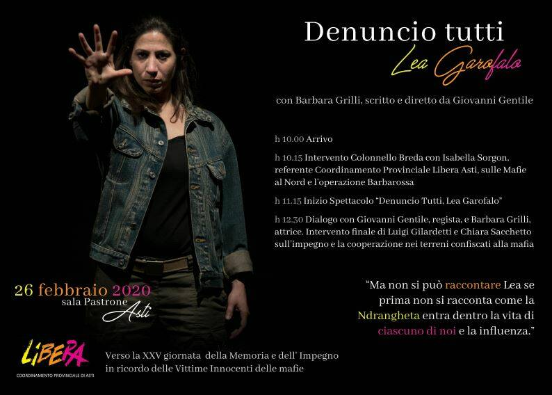 Ad Asti una donna contro la 'ndrangheta: Lea Garofalo