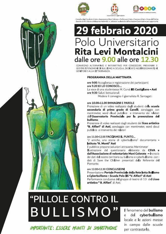 """Asti, """"Pillole contro il bullismo"""""""