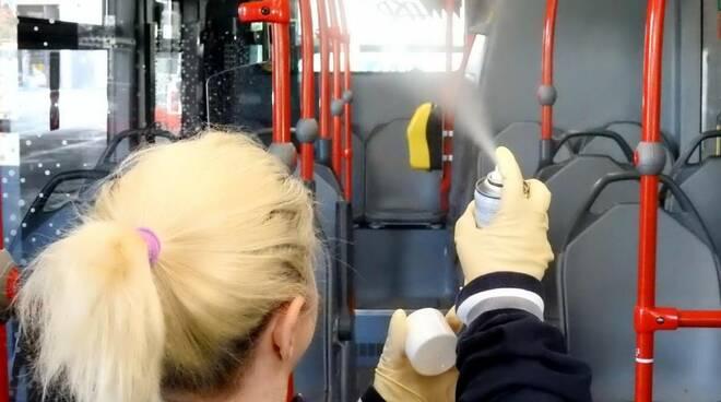 disinfezione autobus asp