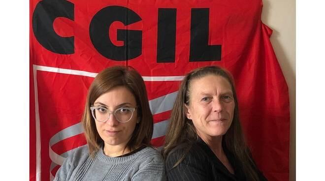 Giorgia Perrone, Segretaria Provinciale SLC CGIL Asti, e Patrizia Bortolin, RSU SLC CGIL Asti,