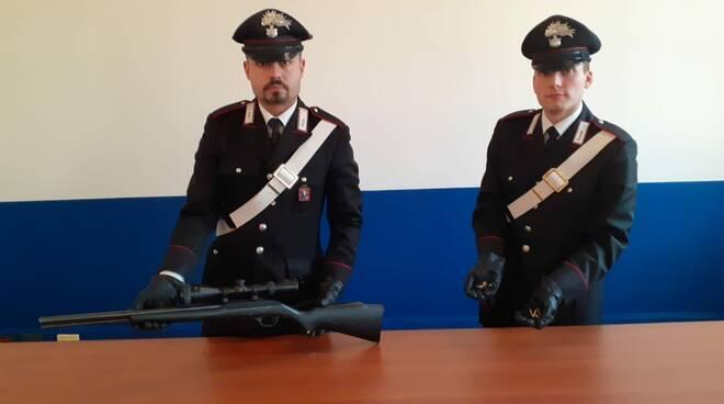 Sequestro fucile carabinieri asti