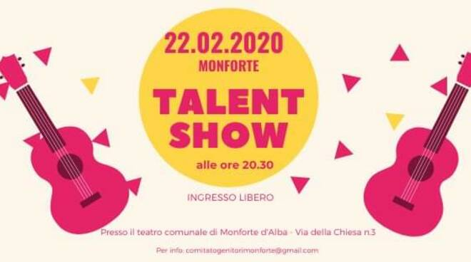 Un talent show a Monforte