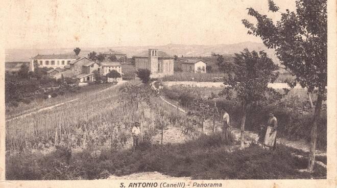 Canelli,  inizio '900, una veduta della regione S.Antonio