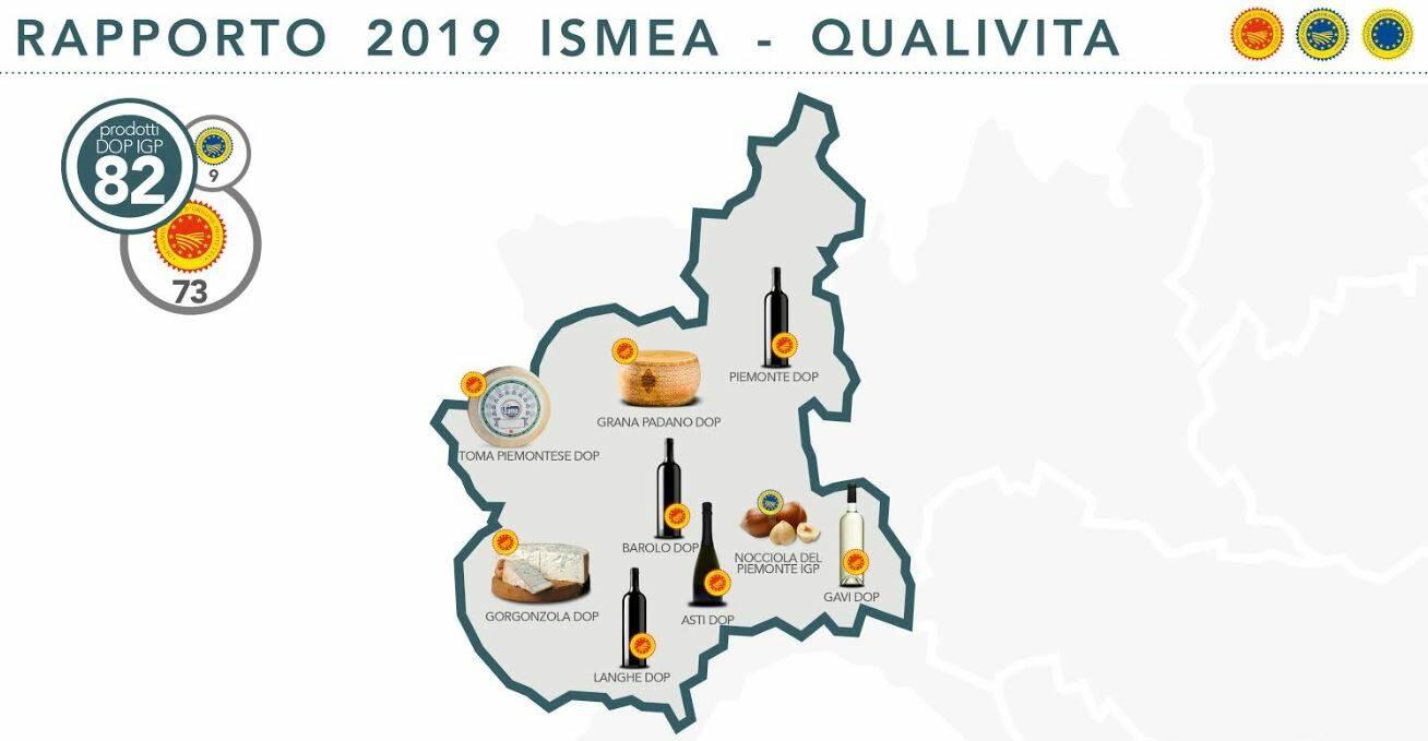 Piemonte oltre 1,2 miliardi di impatto economico DOP IGP - Rapporto qualità ismea