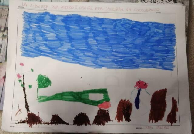 25 aprile 2020: i disegni dei bambini della scuola dell'infanzia di Castelnuovo Belbo