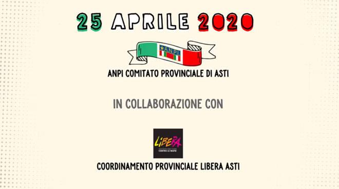 25 aprile insieme ANPI Asti e Libera Asti