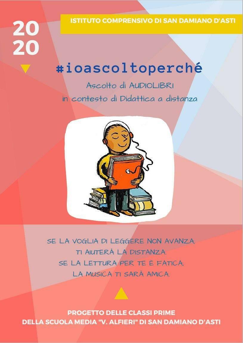 A San Damiano la Didattica a Distanza si fa anche con  #ioascoltoperchè