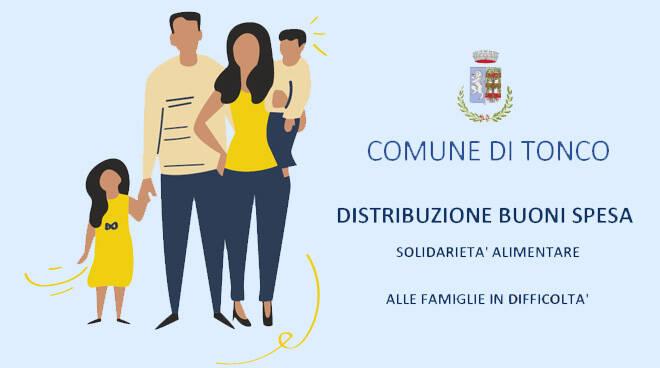 Aiuto alle famiglie per la crisi causata dal coronavirus dal COmune di Tonco AT
